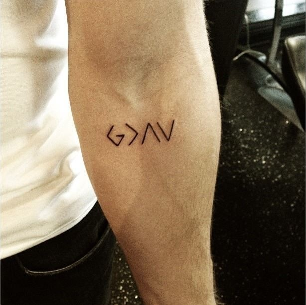 God is greater than the highs and the lows tatoo